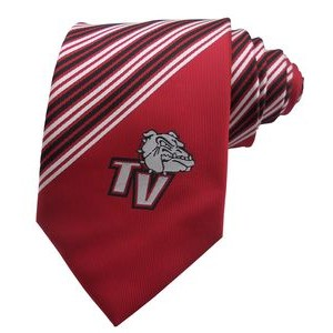 Silk Tie with Custom Woven Logo for youth and school uses